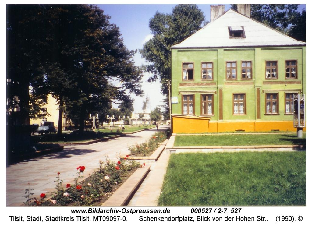 Tilsit, Schenkendorfplatz, Blick von der Hohen Str.