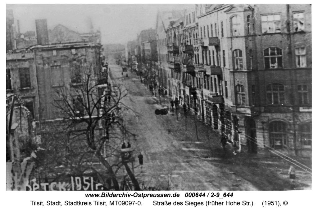 Tilsit, Straße des Sieges (früher Hohe Str.)