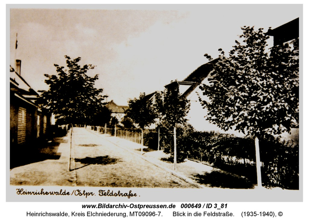 Heinrichswalde, Blick in die Feldstraße