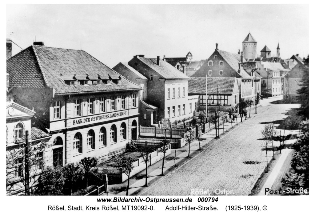 Rößel, Adolf-Hitler-Straße