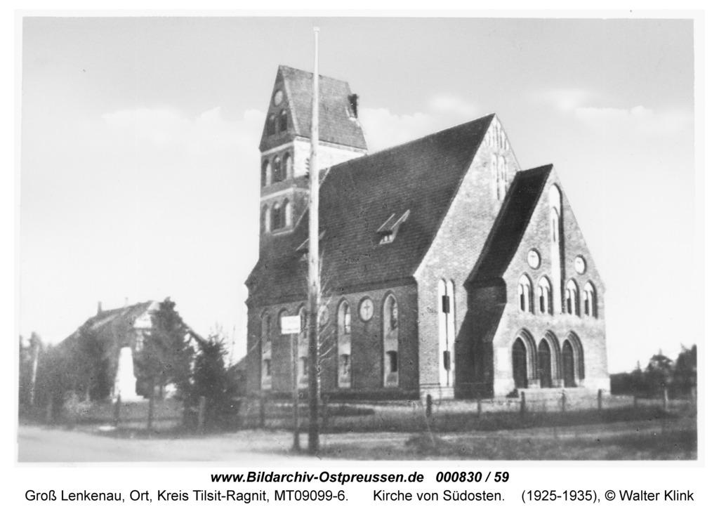 Groß Lenkenau, Kirche von Südosten