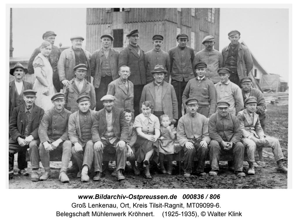 Groß Lenkenau, Belegschaft Mühlenwerk Kröhnert