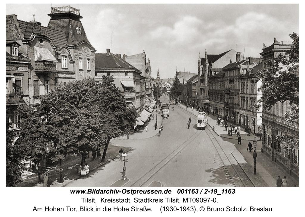 Tilsit, Am Hohen Tor, Blick in die Hohe Straße