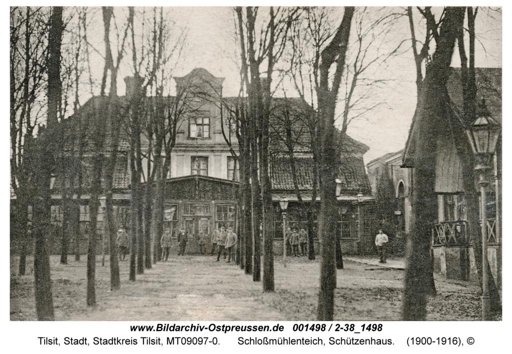 Tilsit, Schloßmühlenteich, Schützenhaus