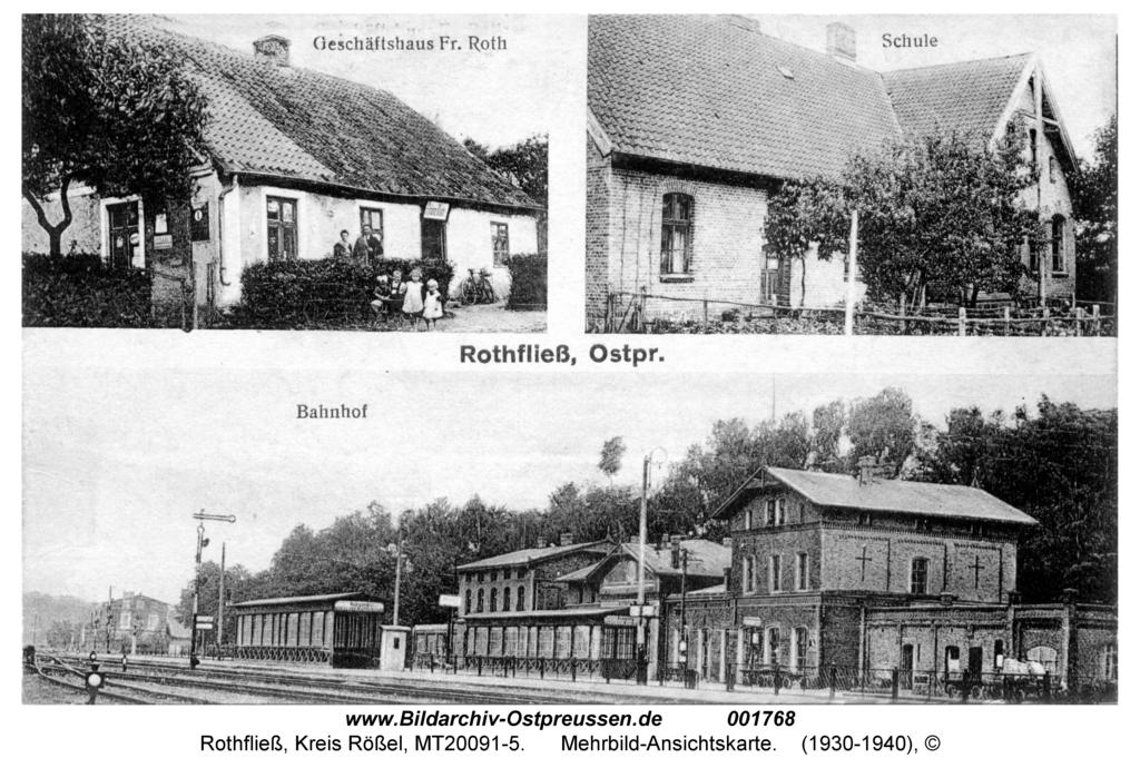 Rothfließ, Mehrbild-Ansichtskarte