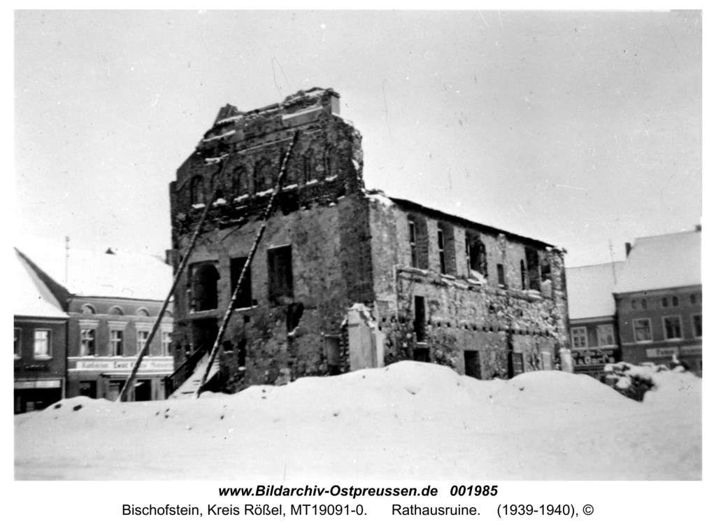 Bischofstein, Rathausruine