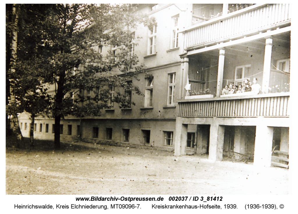 Heinrichswalde, Kreiskrankenhaus-Hofseite, 1939