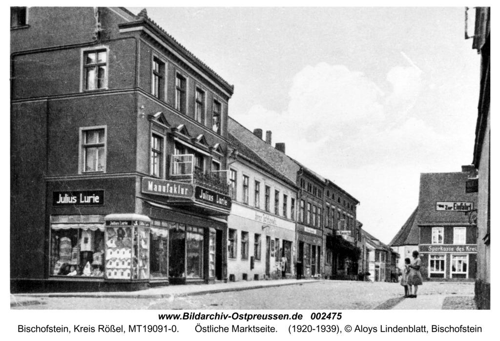 Bischofstein, Östliche Marktseite