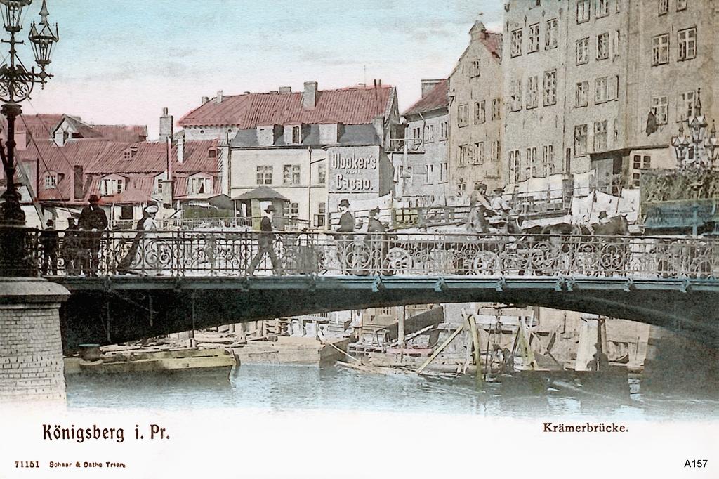 Königsberg, Krämerbrücke coloriert