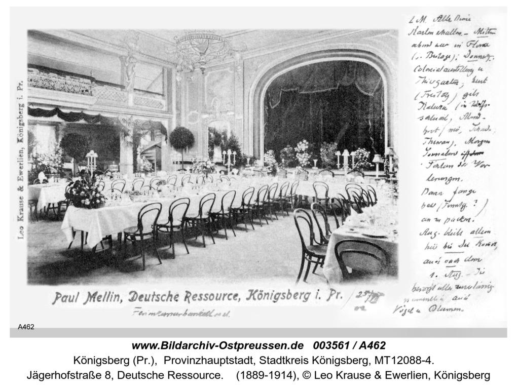 Königsberg, Deutsche Ressource