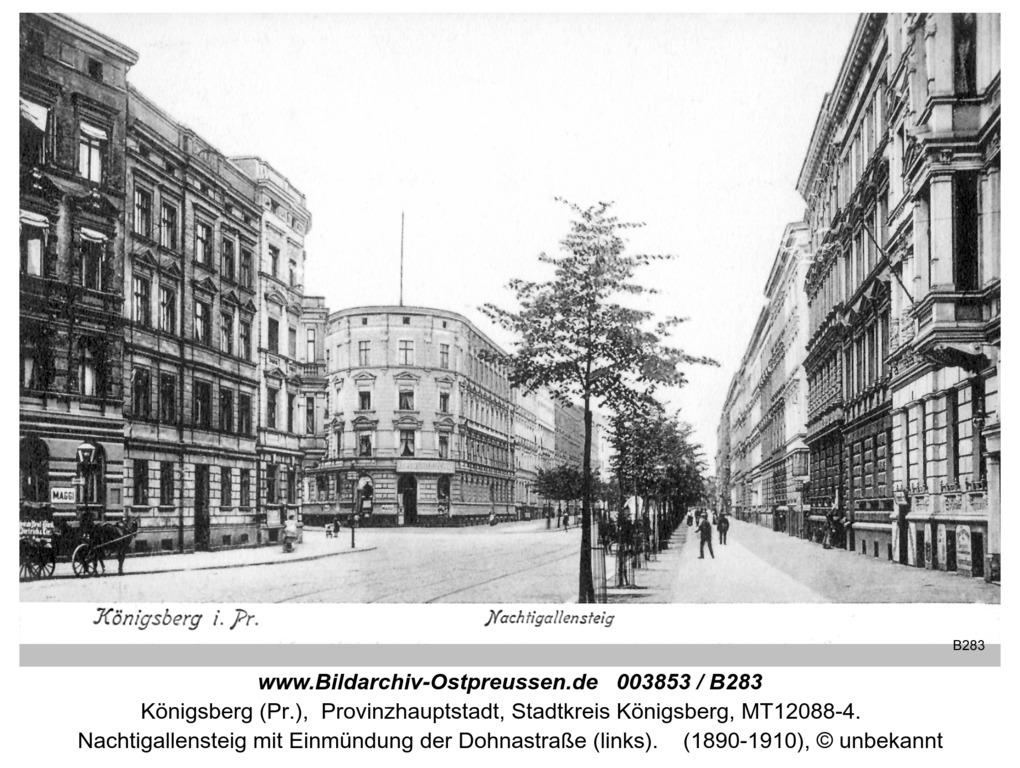Königsberg, Nachtigallensteig