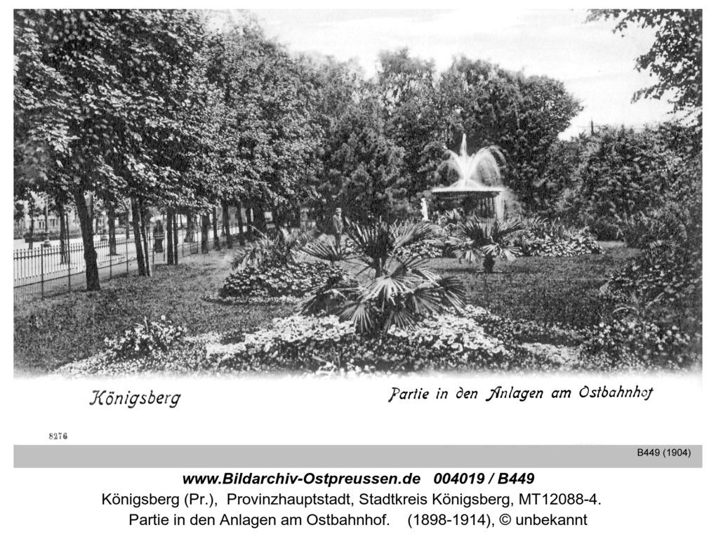 Königsberg, Partie in den Anlagen am Ostbahnhof