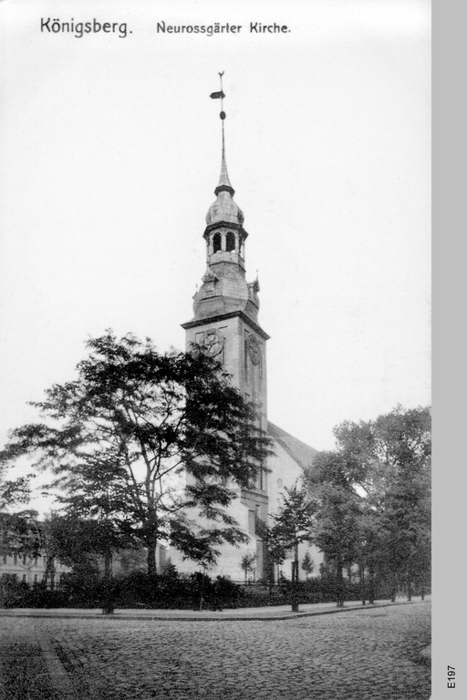 Königsberg, Neuroßgärter Kirche und Vorplatz