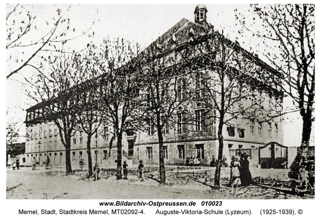 Memel, Auguste-Viktoria-Schule (Lyzeum)