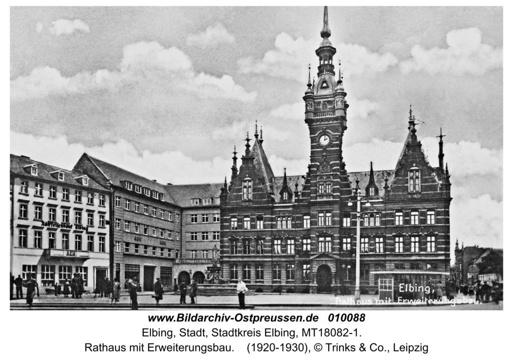 Elbing, Rathaus mit Erweiterungsbau