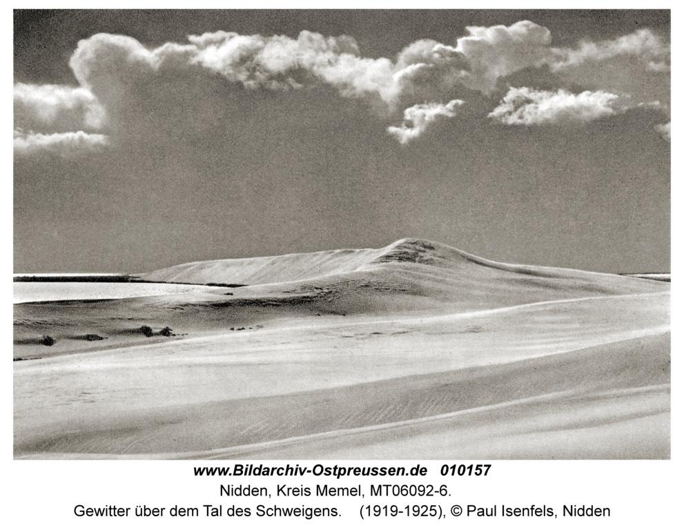 Nidden, Gewitter über dem Tal des Schweigens
