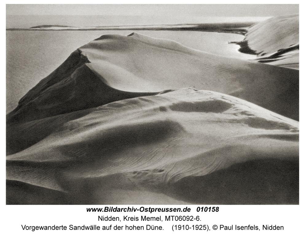 Nidden, Vorgewanderte Sandwälle auf der hohen Düne