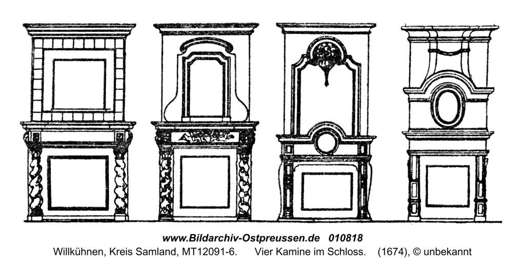 Willkühnen, Vier Kamine im Schloss