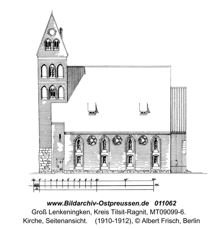 Groß Lenkenau, Kirche, Seitenansicht