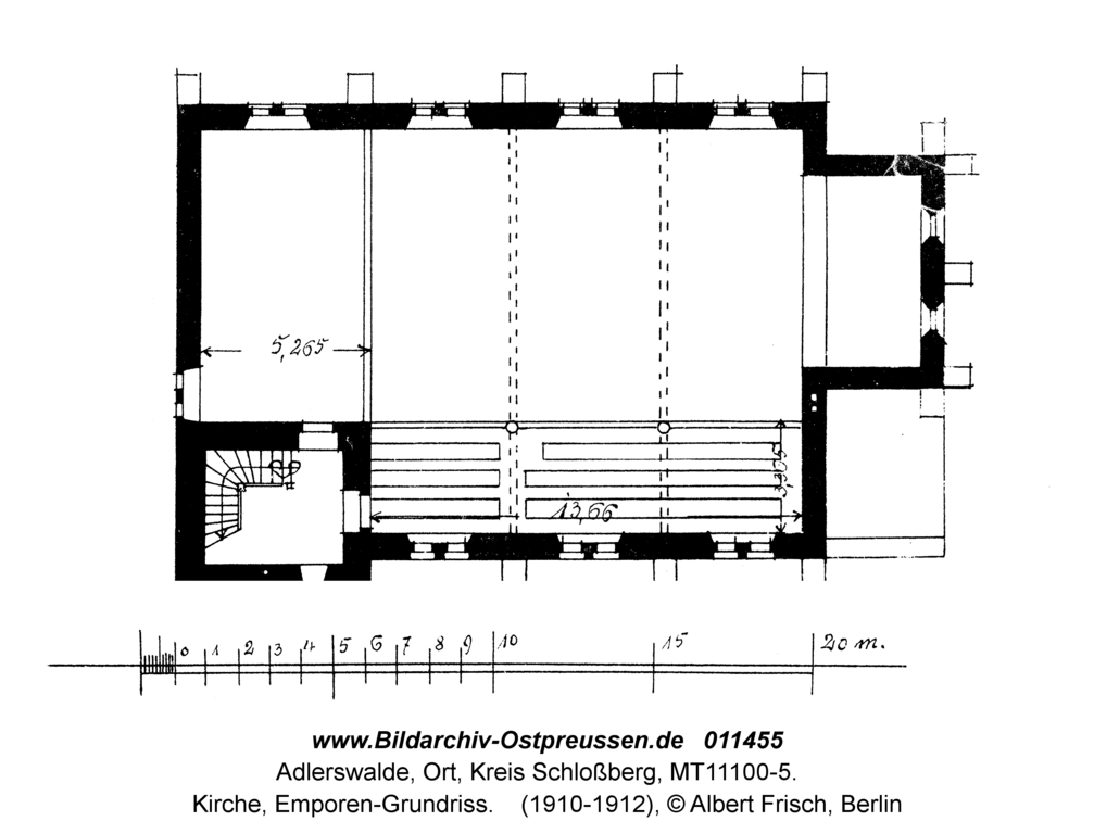 Adlerswalde, Kirche, Emporen-Grundriss