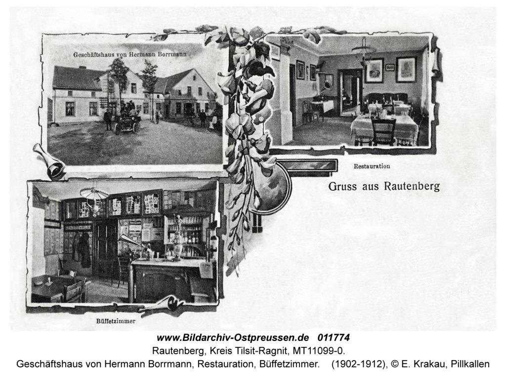 Rautenberg, Geschäftshaus von Hermann Borrmann, Restauration, Büffetzimmer