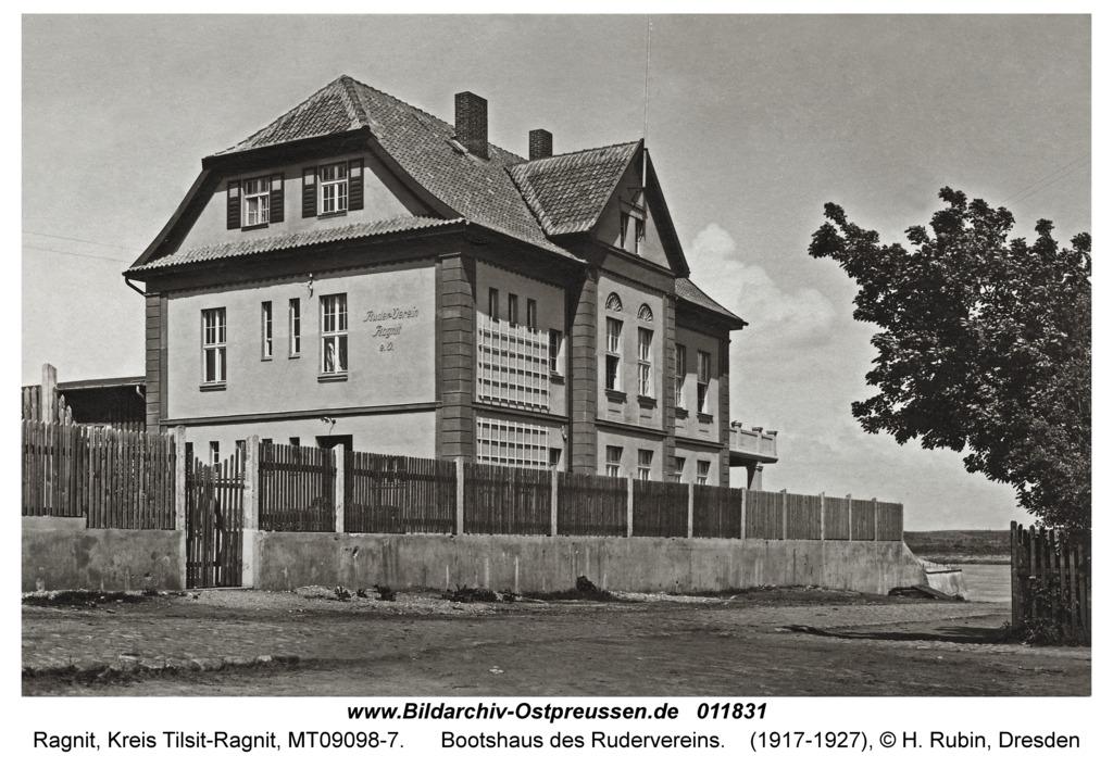 Ragnit, Bootshaus des Rudervereins
