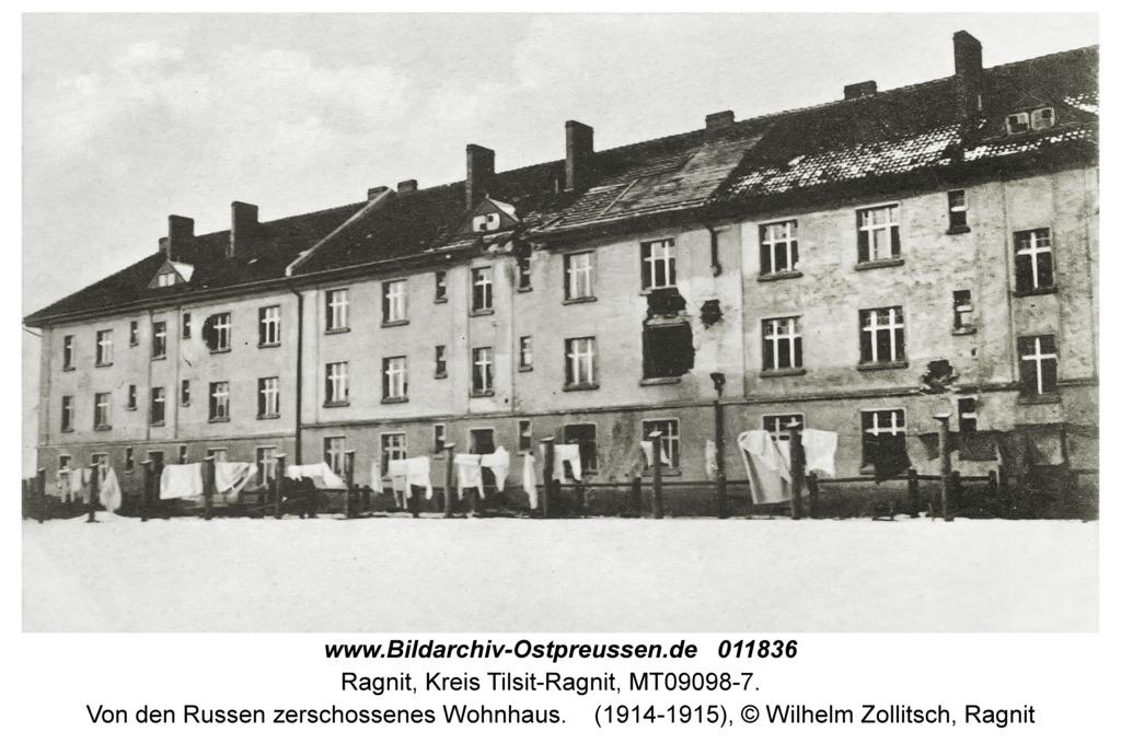 Ragnit, Von den Russen zerschossenes Wohnhaus