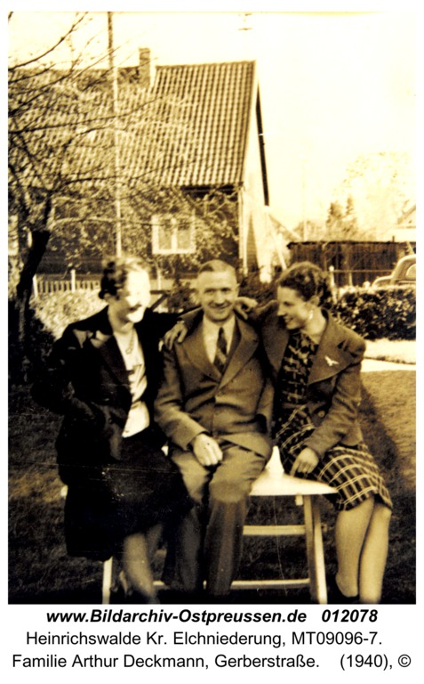Heinrichswalde, Familie Arthur Deckmann, Gerberstraße