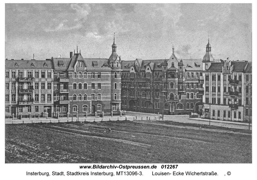 Insterburg, Louisen- Ecke Wichertstraße