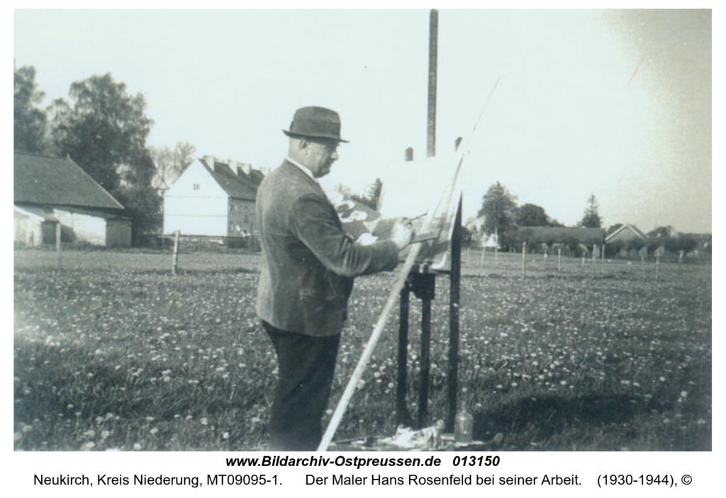 Neukirch, Der Maler Hans Rosenfeld bei seiner Arbeit
