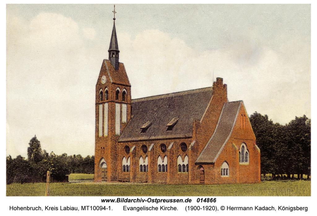 Hohenbruch (fr. Lauknen), Evangelische Kirche