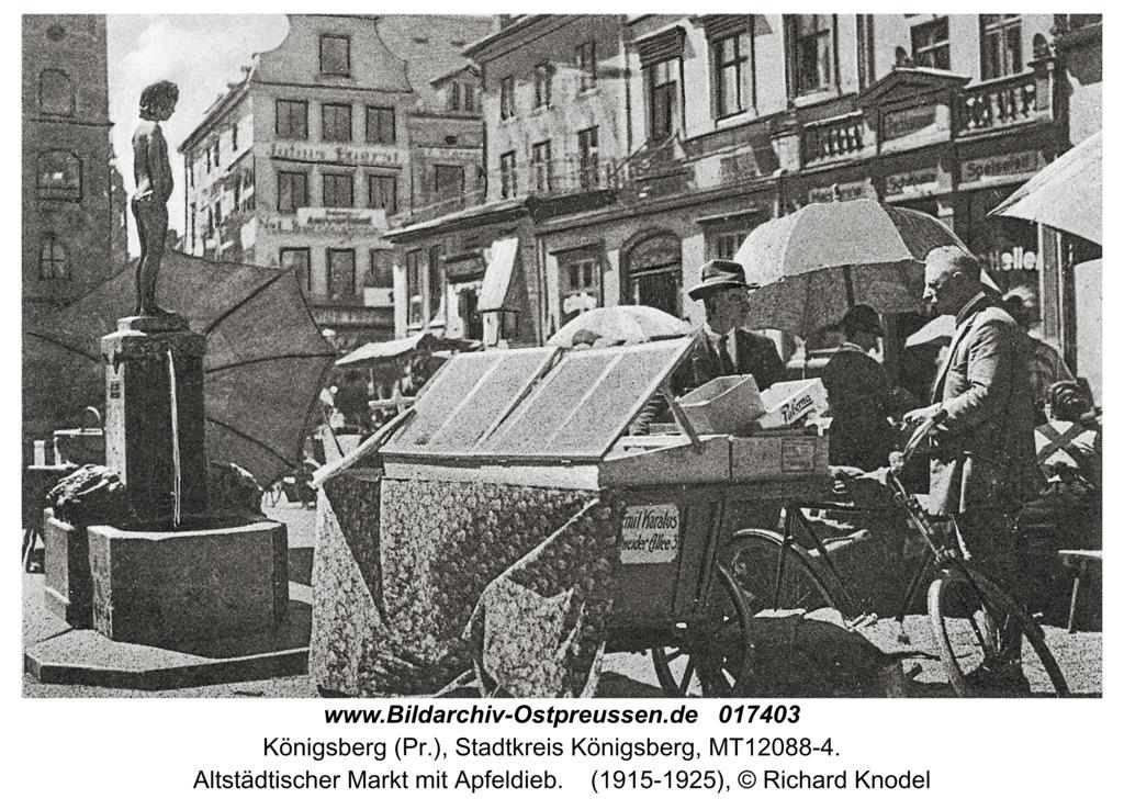 Königsberg, Altstädtischer Markt mit Apfeldieb