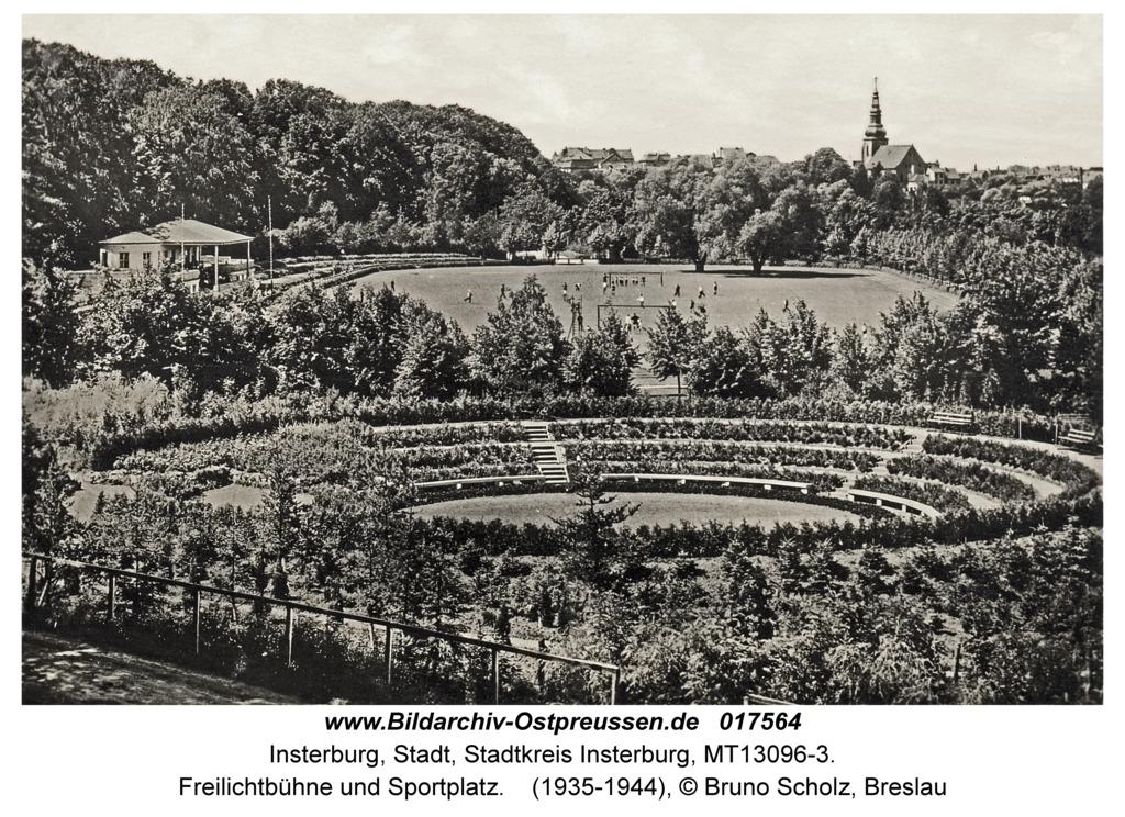 Insterburg, Freilichtbühne und Sportplatz