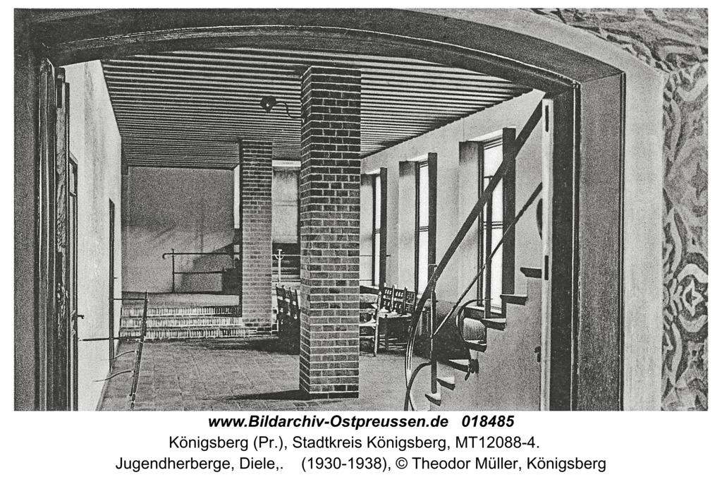 Königsberg, Jugendherberge, Diele,
