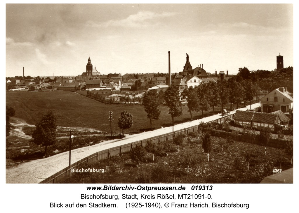 Bischofsburg, Blick auf den Stadtkern