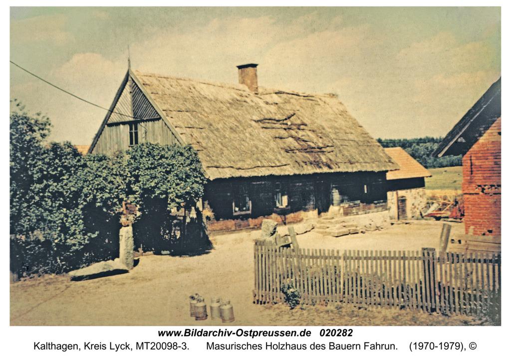 Kalthagen, Masurisches Holzhaus des Bauern Fahrun