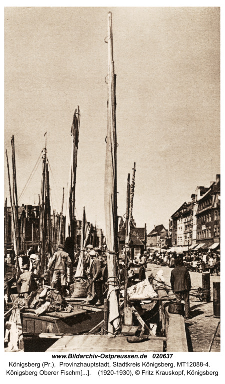 Königsberg Oberer Fischmarkt