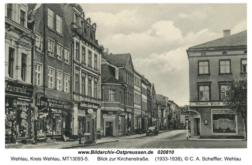 Wehlau, Blick zur Kirchenstraße