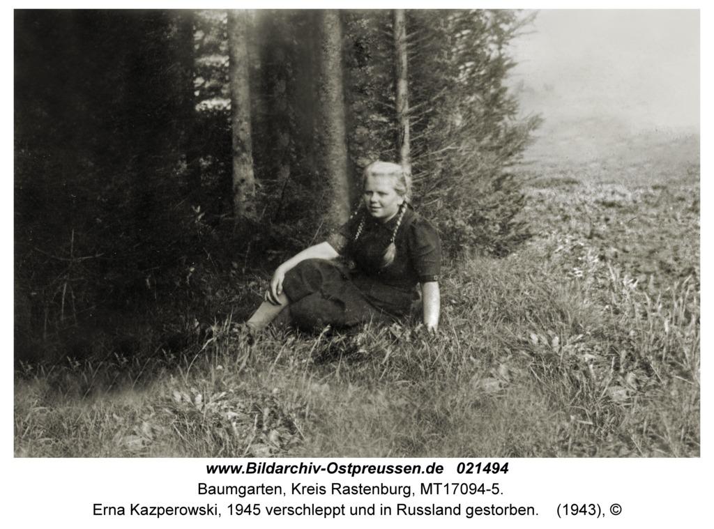 Baumgarten Kr. Rastenburg, Erna Kazperowski, 1945 verschleppt und in Russland gestorben