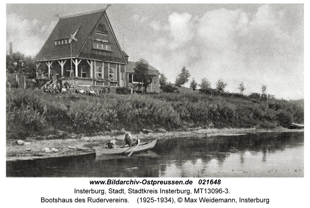 Insterburg, Bootshaus des Rudervereins