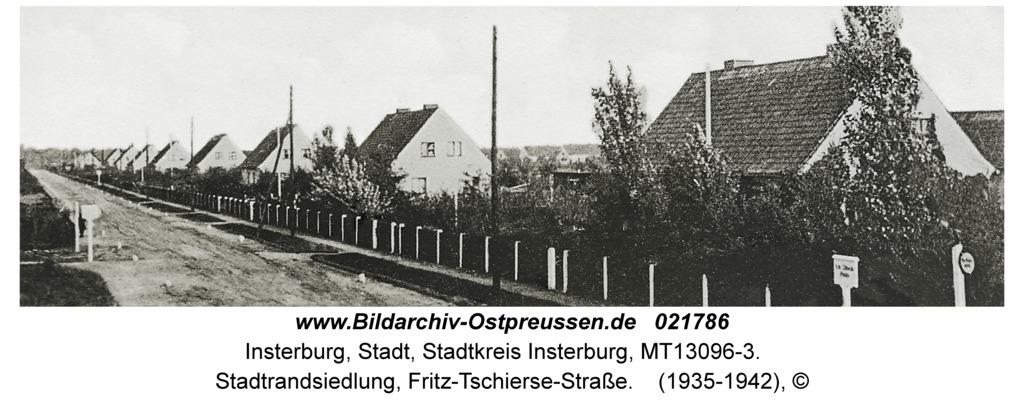 Insterburg, Stadtrandsiedlung, Fritz-Tschierse-Straße