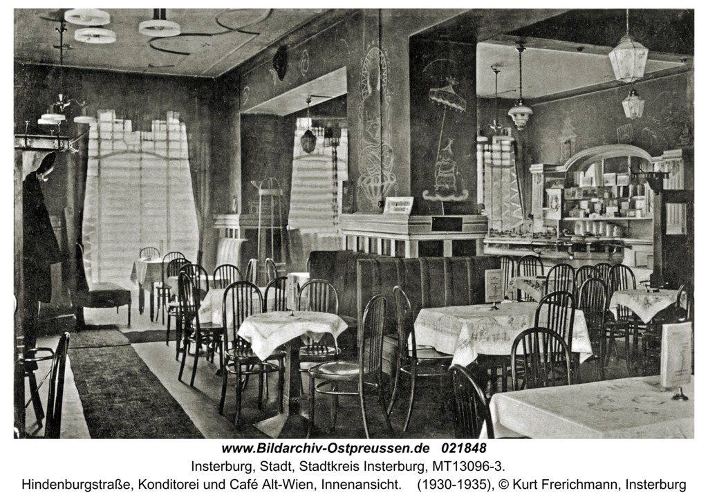Insterburg, Hindenburgstraße, Konditorei und Café Alt-Wien, Innenansicht