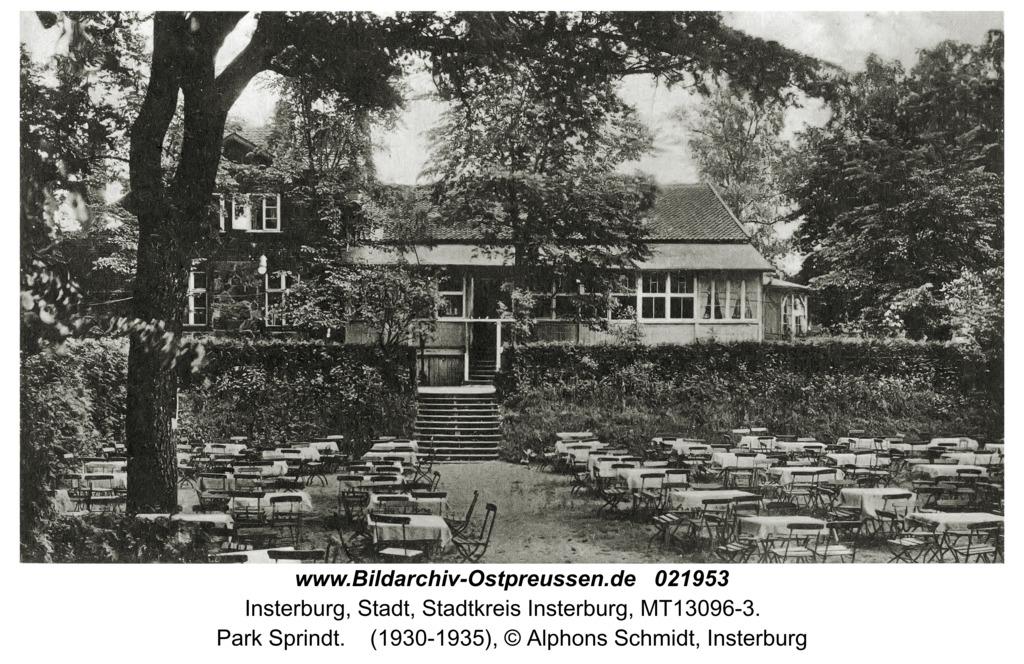 Insterburg, Park Sprindt