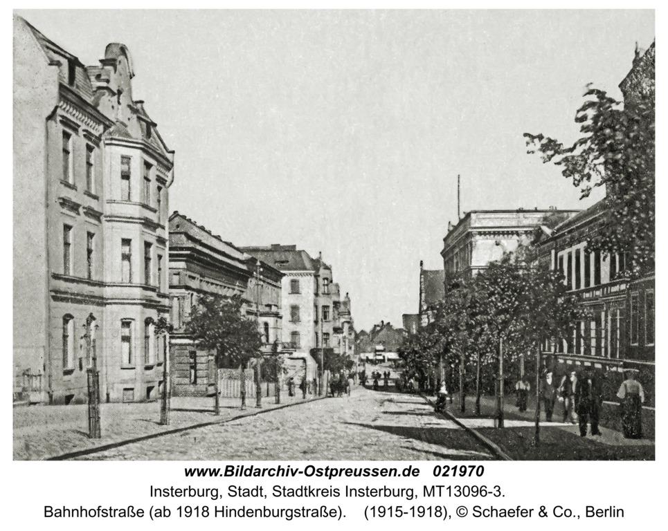 Insterburg, Bahnhofstraße (ab 1918 Hindenburgstraße)