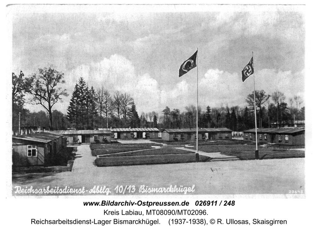 Kreis Labiau, Reichsarbeitsdienst-Lager Bismarckhügel