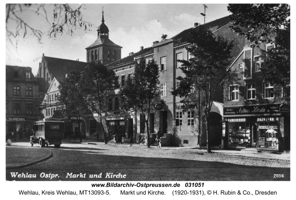 Wehlau, Markt und Kirche