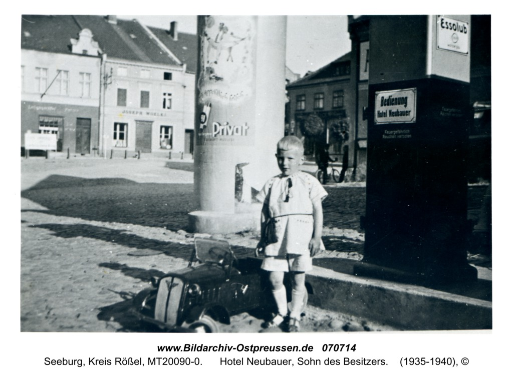 Seeburg, Hotel Neubauer, Sohn des Besitzers