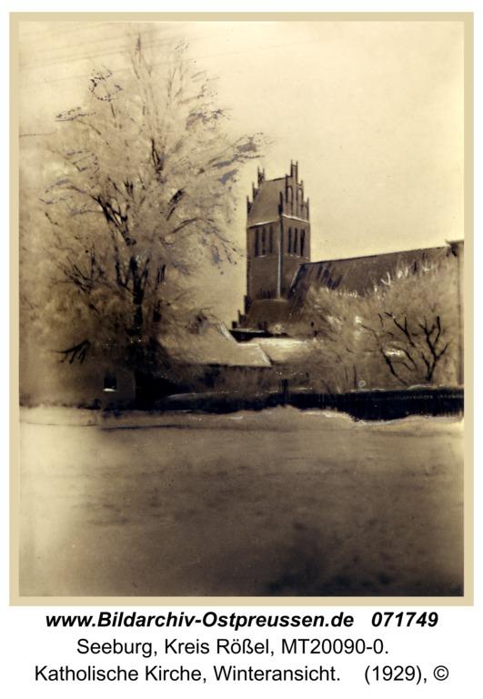 Seeburg, Katholische Kirche, Winteransicht