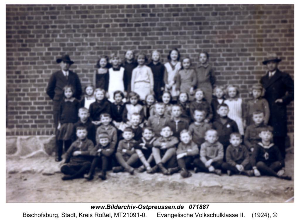 Bischofsburg, Evangelische Volkschulklasse II