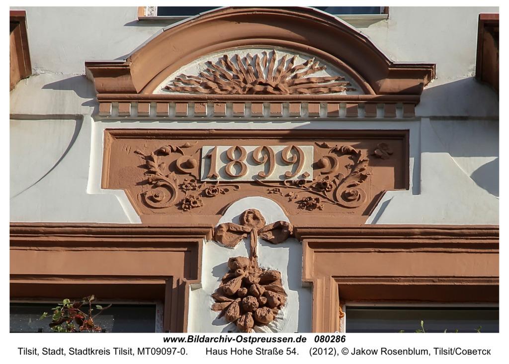 Tilsit (Советск),  Haus Hohe Straße 54